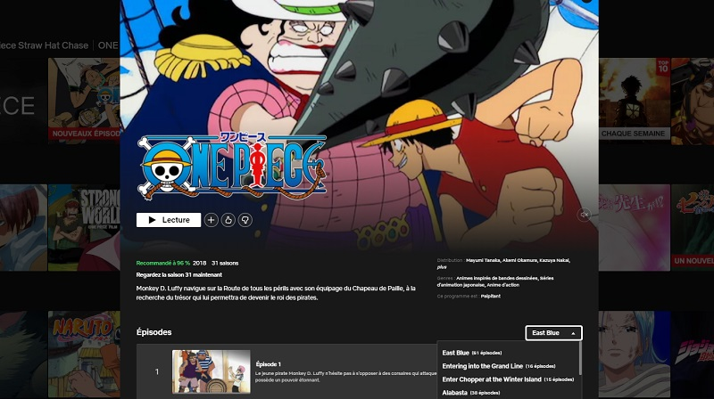 Comment voir One Piece sur Netflix en France ?